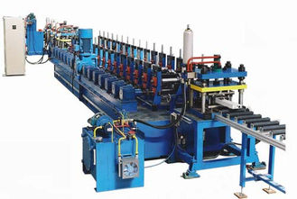 China 16 Main Rollers Cold Rolling Machine For Steel / Metal CZ Purlins supplier