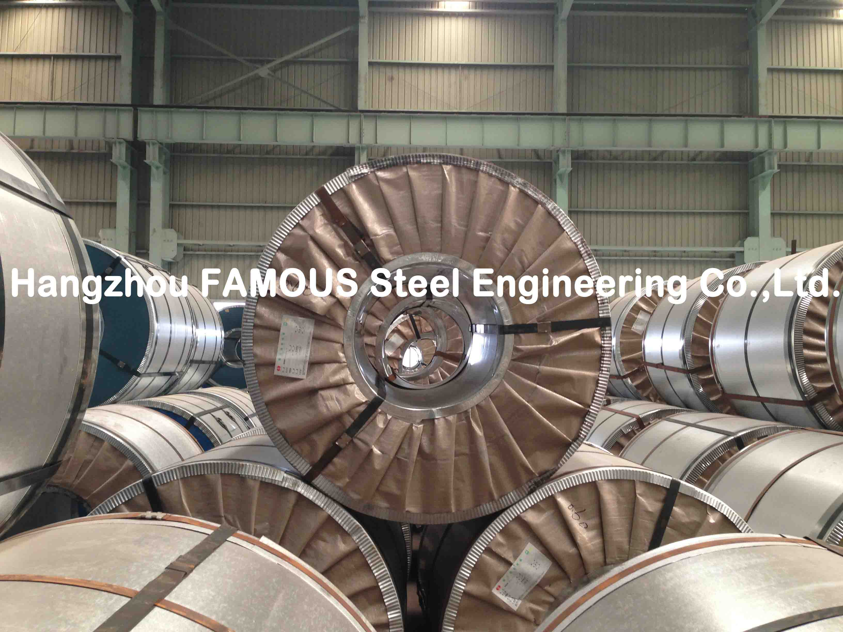 Outside Walls Applied Galvanized Steel Coil / GL Galvalume Sheet