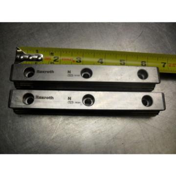 qty 2 - Rexroth 7873 16Q01 Linear Bearings Rail Guild 162MM long x 23MM wide