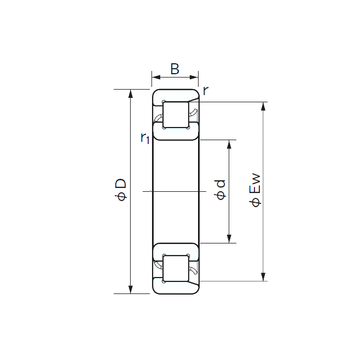 NF 1044 NACHI Cylindrical Roller Bearings