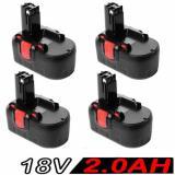 4x Haiti 18V 2.0AH Battery For Bosch BAT025 BAT160 2607335536 2607335278 PSR 18VE
