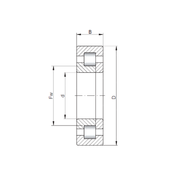 NUP1964 ISO Cylindrical Roller Bearings